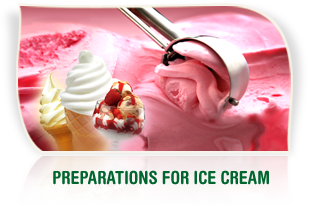 Preparations for ice cream