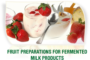 Fruit preparations for fermented milk products